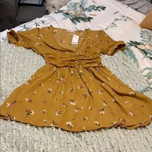 NWT Urban Outfitters Mustard Floral Sundress.